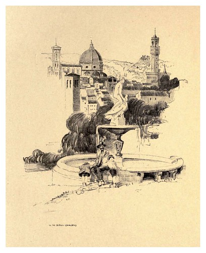 005- En los jardines Boboli-Florence  a sketch book (1914)- Richards Fred