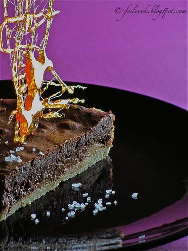 Crostata allo zenzero con pere, cioccolato e sale di Cervia