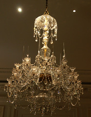 chandelier dripping in crystal