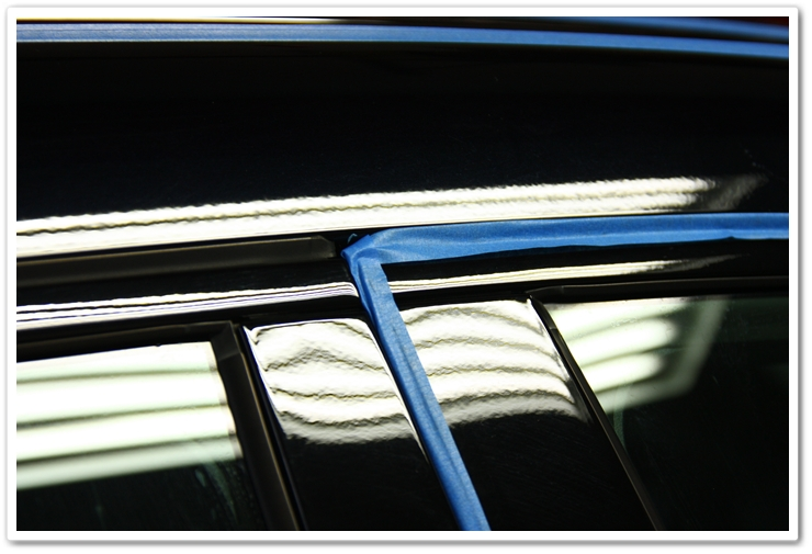 Rubber window and door seals taped