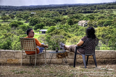 """""""How Do You Like the View?"""" (Evan Gearing Photography) Tags: photoshop bottle nikon texas view wine kitlens winery driftwood nik nikkor hillcountry hdr estates 18105 cs4 d90 photomatix colorefex driftwoodestateswinery"""