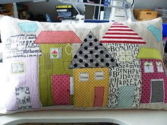 finished ... (monaw2008) Tags: cloud house handmade linen pillow fabric applique cushion monaw monaw2008