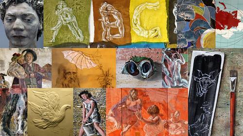 Collage Werke Hans Erni
