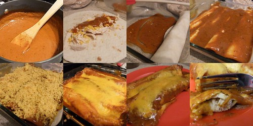 Enchiladas collage