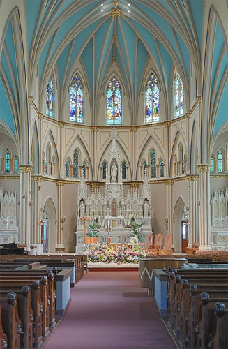 Saint Alphonsus Liguori Roman Catholic Church, in Saint Louis, Missouri, USA - nave