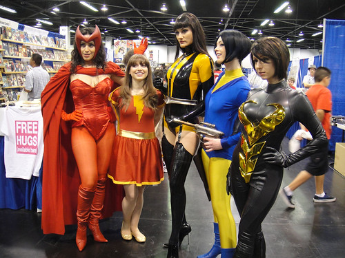 Scarlet Witch, Mary Marvel, Silk Spectre II, Alanna Strange, the Wasp