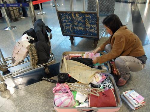 減輕行李啊
