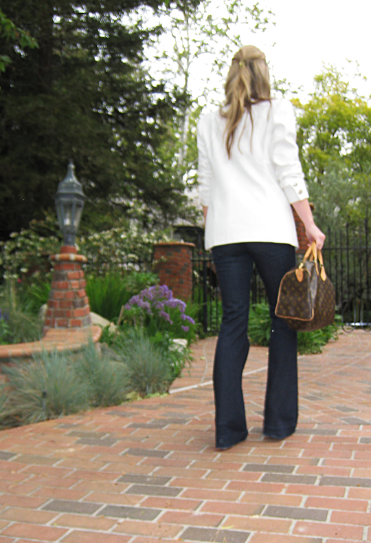 j brand jeans+lovestory+white blazer+louis vuitton bag -3