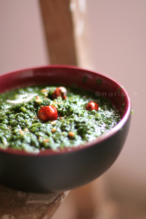 Keerai Masiyal ~ Scrambled spinach!