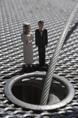 m.whitney38957-11 (mercy-whitney) Tags: life wedding woman man love table toy cord groom bride miniature jump couple doll married dress hole formal tuxedo journey figure proposal pressure engaged society relationships tux plunge lifeline