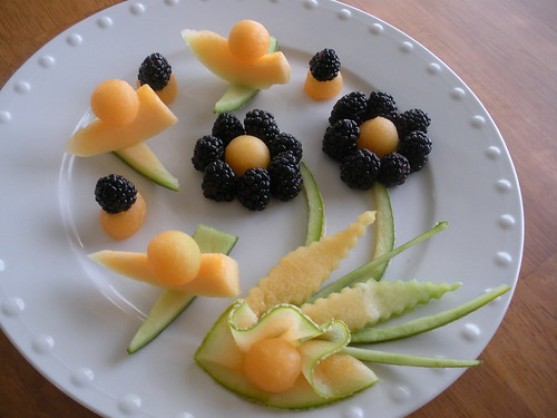 Blackberries Melon