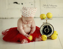 LEMONS for sale.... (Kimberly Chorney) Tags: texture studio sweet naturallight lemons vintagescale redtutu polkadotheadscarf 6montholdbabygirl