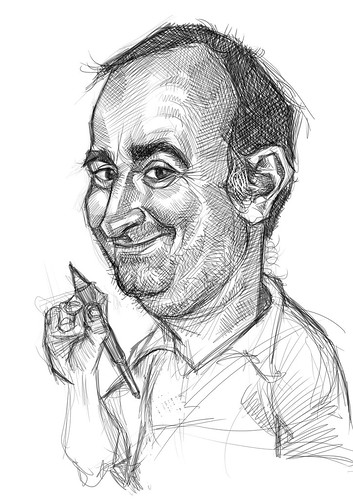 digital sketch of Gerardo Oroz Gomez - 3