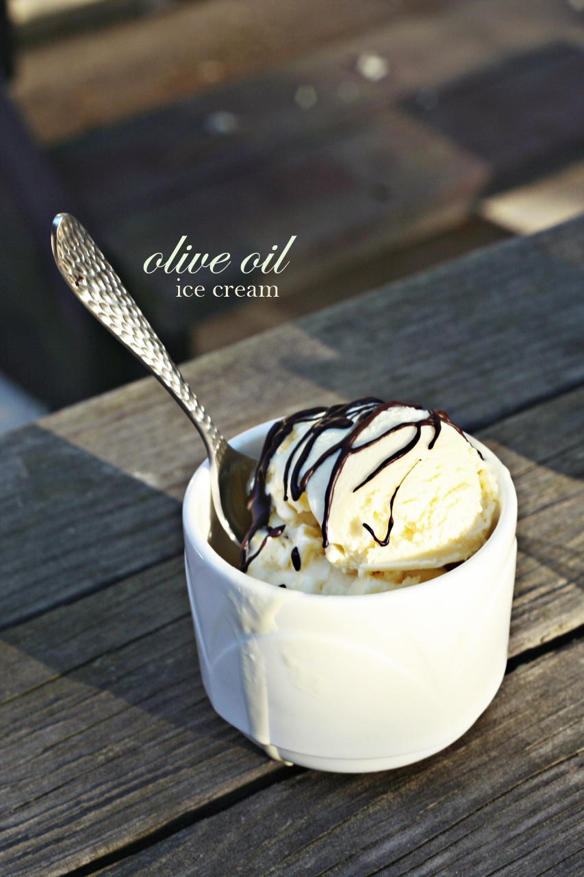 Olive oil ice cream | savory-bites