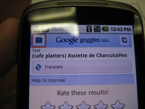 Google Goggle Translate v1.1