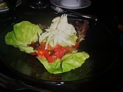 our crab salad with lettuce tomatoes and crab