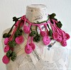 fuchsia-olive crochet lariat (8) (creationsbyeve) Tags: summer flower leaves necklace europe handmade circles crafts crochet fuchsia greece homemade cotton handcrafted lariat chic etsy charming artisan crafting choker necktie accessory scarflette darkolivegreen handmadegifts handcraftedgifts europeanstreetteam creationsbyeve etsygreekteam