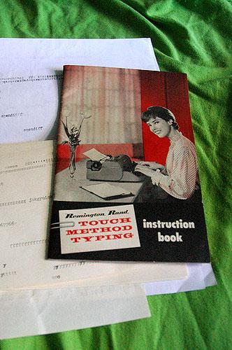 typewriting instructions.