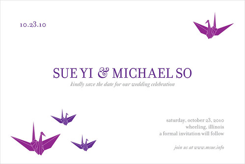 Sue + Mike's Save the Date