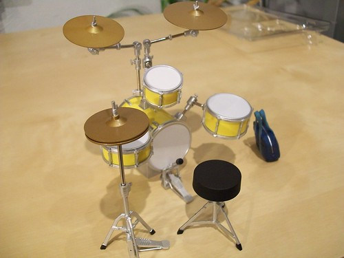Ritsu's completed drum set