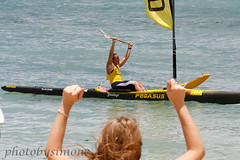 Andrea Moller wins (simone reddingius) Tags: woman sports sport race hawaii athletic maui watersports athlete fitness sup downwind wahine kanaha oc1 malikogulch olukai photobysimone
