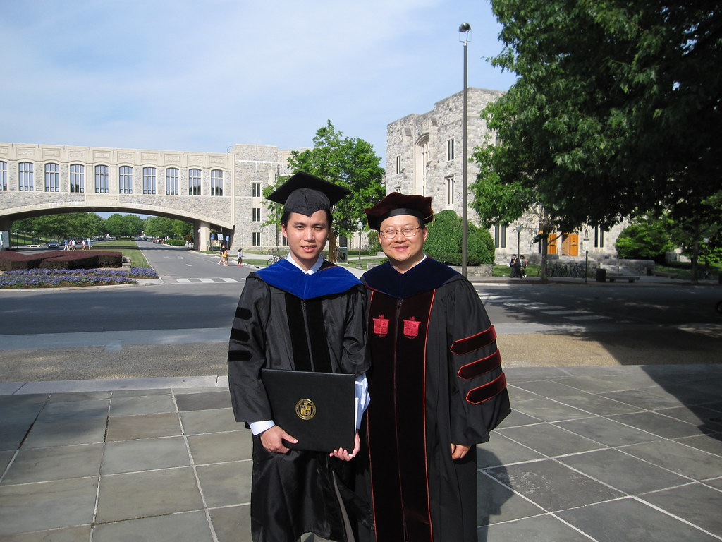 Prof. Hou and I in Front of the Bridge
