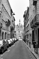 "Bordeaux (Peter Gutierrez) Tags: photo europe european la france french français française aquitaine gironde bordeaux gascon bordèu city town urban street streets gothic heritage architectural architecture ancient monument monuments historic history historiques sidewalk pavement public ancienne black bw white noir blanc square peter gutierrez ""peter gutierrez"" film photograph photography"