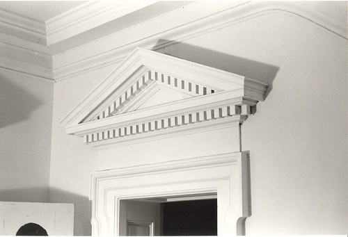 Have you seen this lovely dentillated pediment? It once was the crown of a door casing inside of the first floor hall of the James ... & Have You Seen These Interior Pediments? | Preservation Research Office pezcame.com