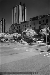 IRsunny01 (callbusybiz) Tags: bw ir sony filter infrared taichung f828 nightvision parkingspace   093