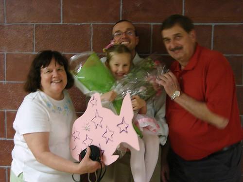 Zoey, Papa and Grandma and Grandpa Jahnke