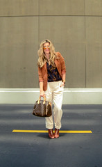 trees fashion outfit waves 70s blondehair whattowear guccisunglasses louisvuittonbag corduroyblazer cuffedkhakis hugegucciaviators laceupsamedelmanboots paulsmithblouse