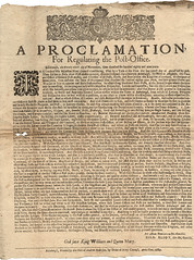 Post office regulating,1689 (P&KC Archive) Tags: mail letters glorious revolution archives government postal ecsochistory