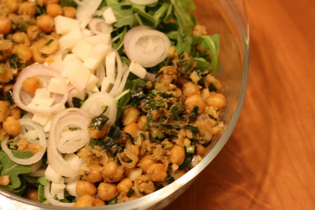 Substantial Salad: Warm Chickpea Salad with Arugula | Ben Cooks ...