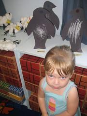 Preschool Art Show (her penguin in back)