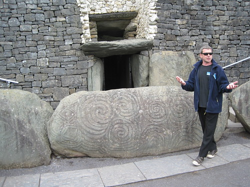 Tour guide John at Newgrange
