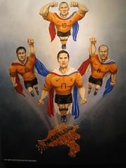 Netherlands - The Flying Dutchmen (Amanda Rykoff) Tags: netherlands worldcup espn timewarnercenter 2010worldcup theflyingdutchmen worldcupmurals