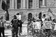 Supporters of SB1070 on 5.23.2010 (everchanging) Tags: protest protests phoenixarizona reform 1070 racialprofiling immigrationprotest immigrationlaw sb1070 4232010 senatebill1070 arizonastatecapitalpresigningjanbrewer phoenixarizonaprotest4232010