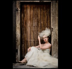 The Bride (Petra Cross) Tags: wedding bride sitting weddingdress bridal couture couturedress bradfordcross petracross