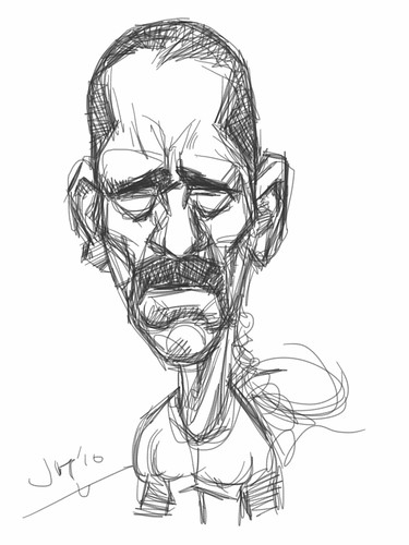 digital iPad sketch of Danny Trejo - 3