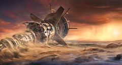 Last Sunset (@hipydeus) Tags: illustration photoshop painting 3d alone crash cinema4d spacestation planet mattepainting digitaldrawing speedpainting maxon ✪