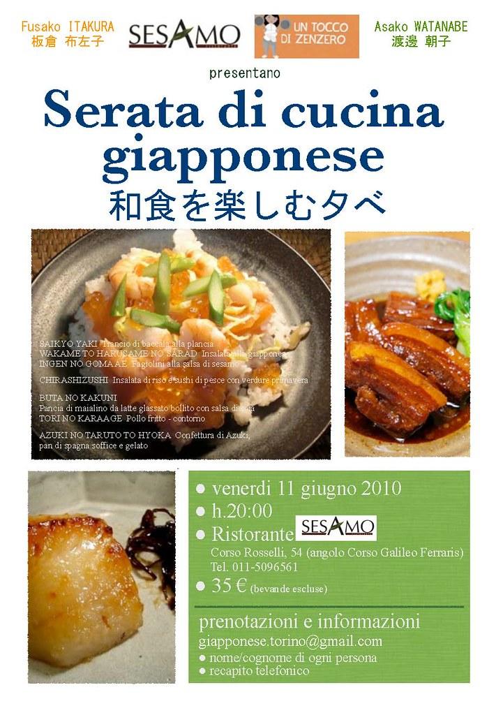 Serata di cucina giapponese