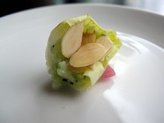 Cucumber & Almond Amuse from Ten-01