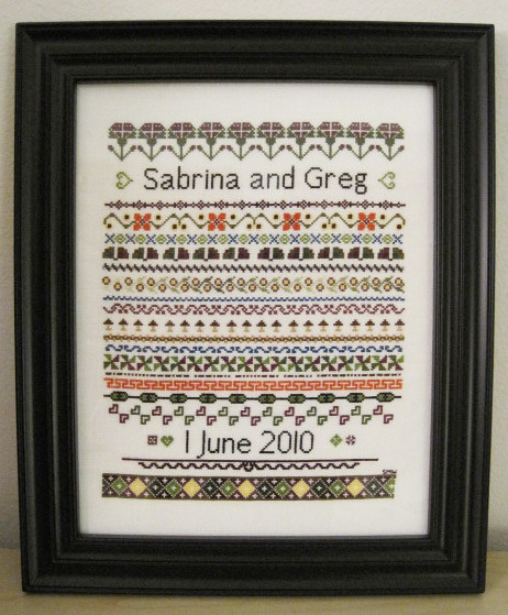 Wedding Sampler Framed