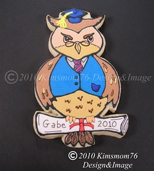 Graduation Owl Cookies (kimsmom76(Susan)) Tags: cookies diploma designer unique graduation owl graduate professor custom 2010 handcut kimsmom decoratedcookie cookiefavors graduationcookies sweetscenes kimsmom76