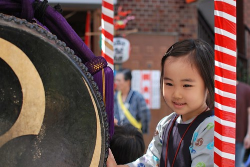 enjoy playing japanese drums