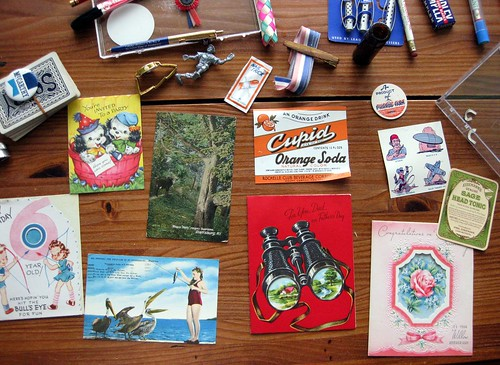 Nostalgia package with paper ephemera