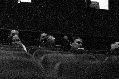 the audience listening to the interview
