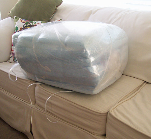 6 foam cushions shrink wrapped