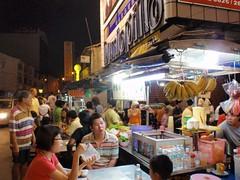 Etalle de nourriture de rue à Penang