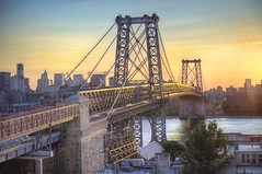 Sunsetting over Williamsburg (Tony Shi Photos) Tags: new york nyc bridge sunset ny newyork nova brooklyn photo manhattan best sugar williamsburg domino nueva hdr   sunsetting nuevayork jork  nowy  iorque   williamburgh   nikond700    tonyshi willamburg